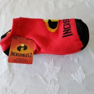 Incredibles 2 - 6 pack of Boys No Show Socks
